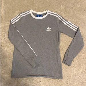 adidas Originals Three Stripe Long Sleeve T-Shirt